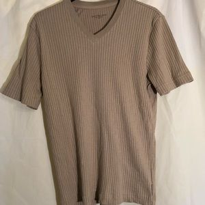 Calvin Klein tan shirt sleeved shirt